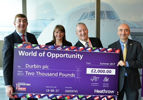 Durbin gets export boost through Heathrow