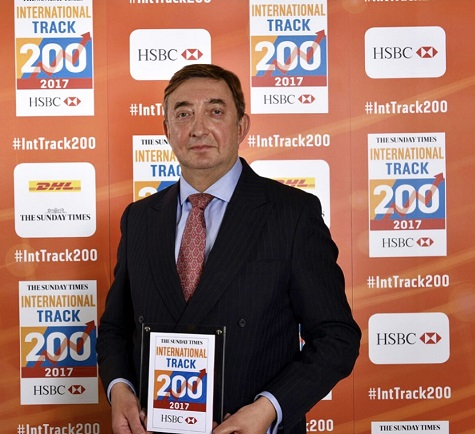 Durbin ranked No.108 in Sunday Times HSBC International Track 200 list